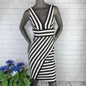 👗NWT |•BISOU BISOU•| Black/White Striped Dress👗